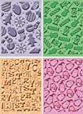 Provo Craft Cuttlebug Cricut Companion Embossing Folder Bundle 4/Pkg Christmas (2) 5x7 & (2) A2 Sizes