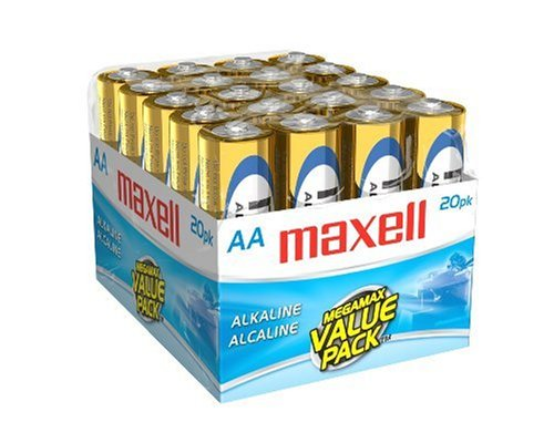 Maxell 723453 LR6 20MP AA Cell 20 Pack Brick Battery
