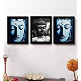 Tied Ribbons Gifts For Diwali Buddha Framed Paintings Set Of 3 (13.6 Inch X 10.2 Inch)
