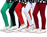Indistar Girls Super Soft Cotton Leggings (Set of -5)
