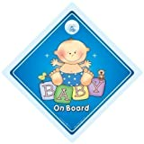 Baby on Board Car Sign Baby Car Sign Grandchild on Board Baby Sign Child signBaby on Board Sign Big Blue Baby On Board Baby on Board Car Sign Bumper Sticker Decal Baby Car Sign Baby Proofing Sign Grandchild On Board Car Sticker