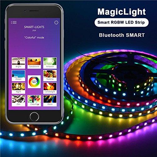 Airgoo smart bluetooth rgbw led strip light kit smartphone app quantity aloadofball Images