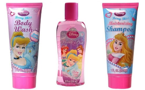 Disney Princess Body Wash + Bubble Bath + Shampoo - 1