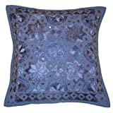 Indian Single Designer Cotton Cushion Cover 16 By 16 Inches