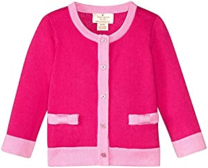 kate spade york Baby Girls Colorblock Bow Cardigan, Cabaret Pink, 3 Months from Global Brands Group - Quidsi