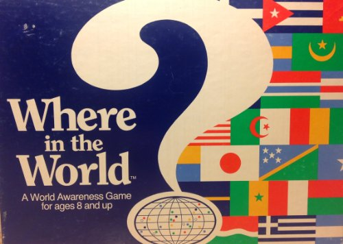 Vintage Where in the World Board Game Copyright 1986 and 1989 - 1