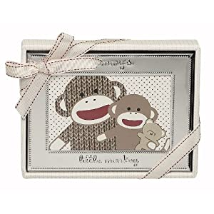 Babystarters Sock Monkey Photo Frame