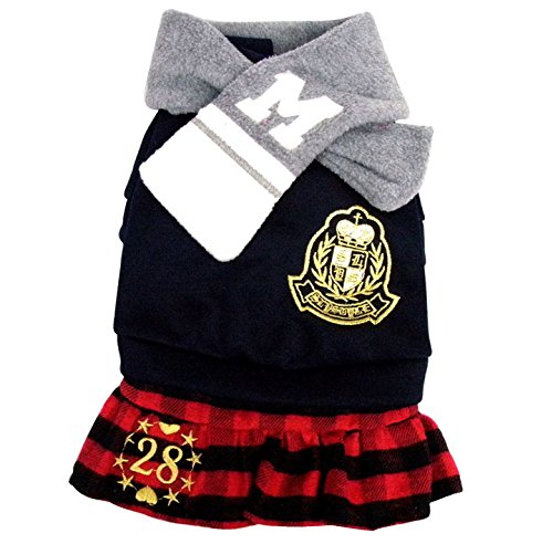 Pet Cat Dog Clothes Unisex Students Uniform With Scarf Jumpsuit Dress Skirt Small Pet Cat Dog Clothes Dog Costume Girl S