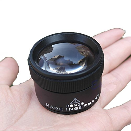 30X 36mm Portable Optics Loupes Magnifier Magnifying Glass Lens Microscope for Jeweler Coins Stamps