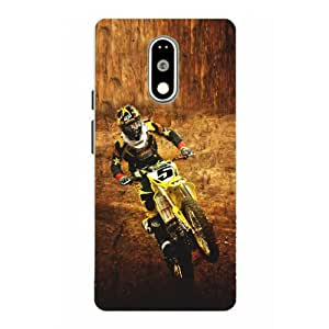 Moto G4 Play Bike Printed Multicolor Hard Back Cover By Snazzy