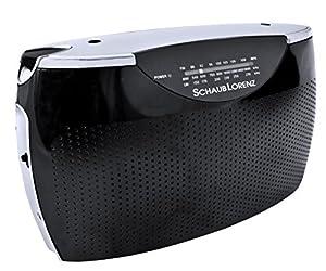 Schaub Lorenz RT242 Portable Radio (VHF/MW/LW Tuner / AUX-IN / Headphone Port) Black