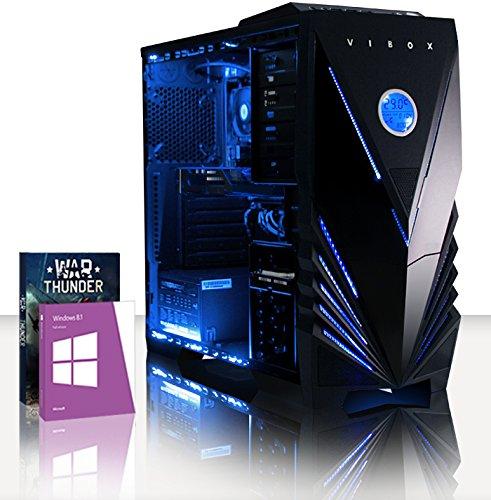 VIBOX Scope 32 - 3.9Ghz (4.0GHz Turbo) AMD Dual Core Desktop Gamer, Gaming PC Computer mit WarThunder Spiel Bundle, Windows 8.1 PLUS eine lebenslange Garantie inbegriffen* (Nvidia Geforce GT 730 2 GB Grafikkarte, 1TB Festplatte, 16 GB 1600MHz RAM, DVD-RW)