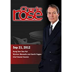 Charlie Rose - Aung San Suu Kyi / Wynton Marsalis and Garth Fagan/Chef Daniel Humm (September 21, 2012)