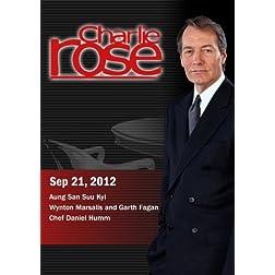 Charlie Rose - Aung San Suu Kyi / Wynton Marsalis and Garth Fagan/Chef Daniel Humm (September 21, 2012)