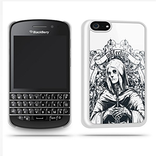 Tattoo Woman Black Case Shell Cover Phone Case Shell For Blackberry Q10 - White
