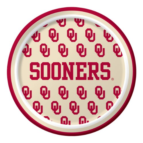 Creative Converting Oklahoma Sooners Dessert Paper Plates (8 Count)