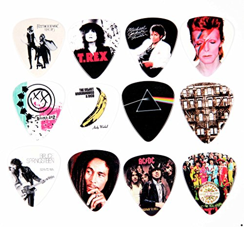 Famous Album Covers Plettri Set di 12 Plectrums Premium Plettro Set B
