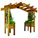 Gronomics PP2 18-34S 3-Feet by 10-Feet by 8-Feet Pergola Planter, Finished