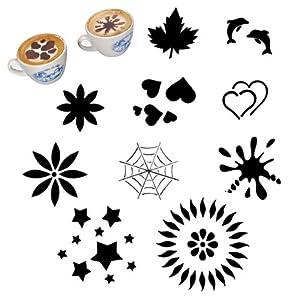 Stencil per decorare cappuccino pz 10 casa e for Stencil per cucina