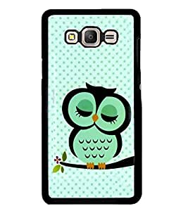 Fuson Premium Cute Owl Metal Printed with Hard Plastic Back Case Cover for Samsung Galaxy On7