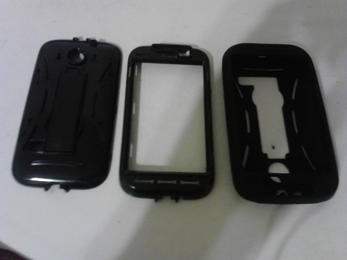 Huawei Ascend II/ Prism Hybrid Case with KickStand Black