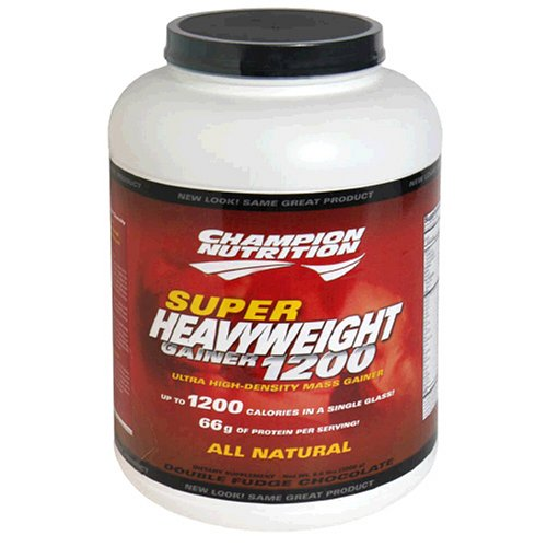 Champion Nutrition Super Heavyweight Gainer 1200 Ultra High-Density Mass Gainer, Double Fudge Chocolate, 6.6-Pound Plastic Jar
