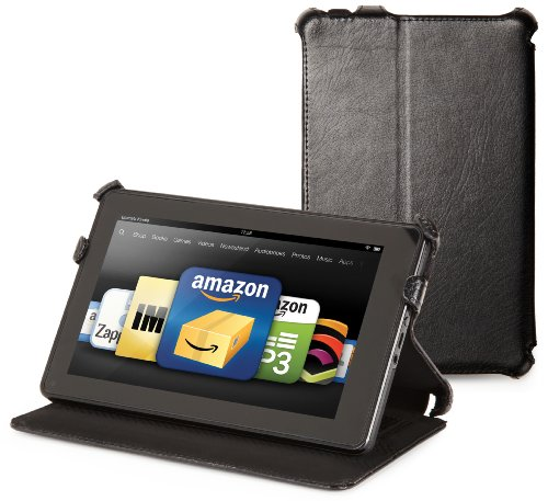 Kindle Fire Genuine Leather Cover by Marware, Black (will not fit HD or HDX models)