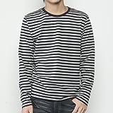 (ダルク)DALUC 長袖 Tシャツ ベーシック ロンT 4.3oz ( S , M , L , XL / ボーダー ・ 無地 )