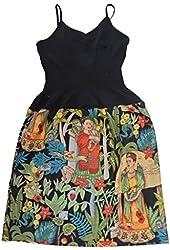 "US HANDMADE FASHION FANCY DRESS WITH "" FRIDA IN JUNGLE"" PATTERN, Cotton Fabric, Uni-Size, LDS 1511"