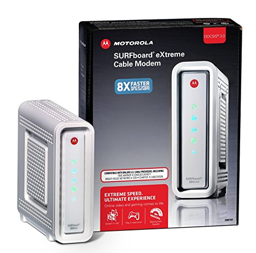 ARRIS / Motorola SurfBoard SB6141 DOCSIS 3.0 Cable Modem - White image