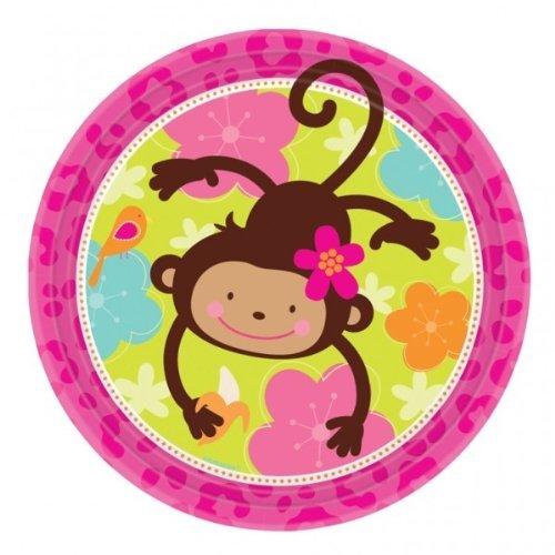 "Monkey Love 9"" Plates"
