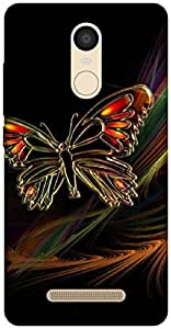 The Racoon Lean The Butterfly hard plastic printed back case / cover for Xiaomi Redmi Note 3