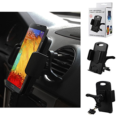Vent Air Conditioner Mount & Holder for BLU Advance 4.0, Dash. Rotates 360 degrees and has quick release button.
