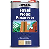 Ronseal TWPC5L Total Wood Preserver Clear 5 Litre