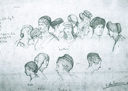 le-musee-de-sortie-croquis-de-coiffures-de-sculptures-antique-par-alma-tadema-a3-poster