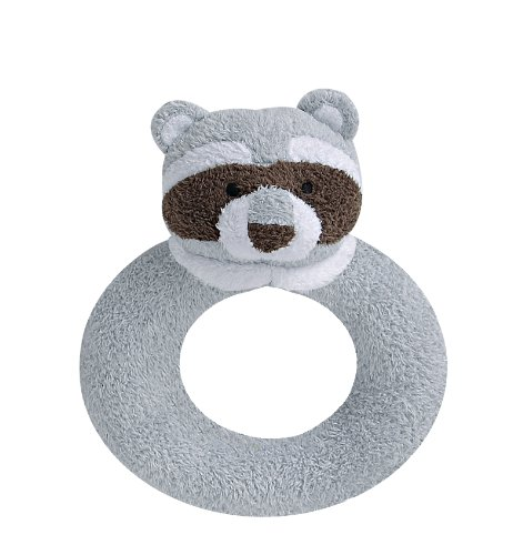 Angel Dear Ring Rattle, Grey Raccoon