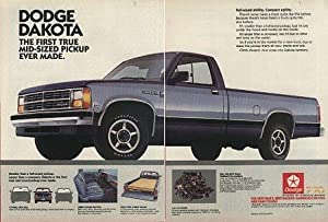 1987 dodge dakota le pickup color ad usa the first true mid size double. Black Bedroom Furniture Sets. Home Design Ideas