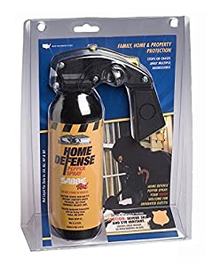 SABRE RED Police Strength Pepper Spray - Family, Home & Property Defense Fogger with Wall Mount Bracket & 25 Foot Range