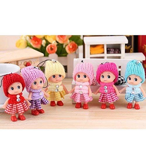 6 PCS Creative plush Toys Princess Vinyl Doll Amazing Wedding Gift