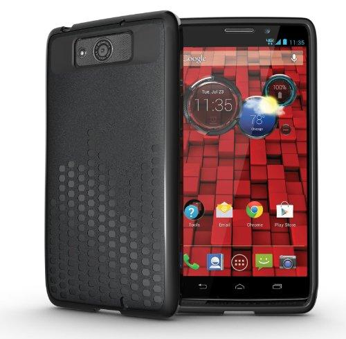 Tudia Ultra Slim Melody Series Tpu Protective Case For Motorola Droid Maxx (Late 2013) Xt1080M (Black)