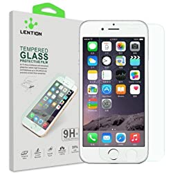 LENTION Premium Tempered Glass Screen Protector for iPhone 6 Plus / 6s Plus (5.5-inch) with PET Back Protective Film 9H Hardness
