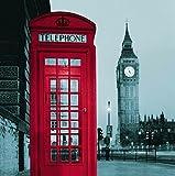 Mercurry Famous City Landmark Pattern Fabric Shower Curtain, 180cm X180cm(London)