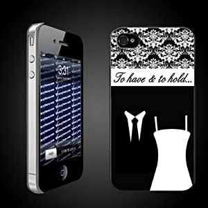 Bride to Be iPhone Design To Have & To Hold CLEAR Protective iPhone 4/iPhone 4S Hard Case