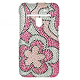 Pink Flowers Bling Hard Case Snap On Faceplate Cover For LG Revolution 4G
