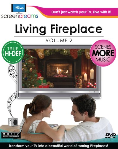 Screen Dreams: Living Fireplace, Vol. 2 [Blu-ray] (Fireplace Dvd Blu Ray compare prices)