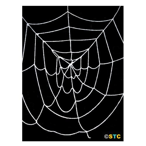 4.5' ft Deluxe Large Spider Web (Black) ~ Halloween Spider Web Decorations & Props