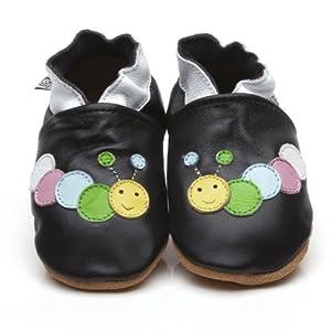 Suaves Zapatos De Cuero Del Bebé Oruga Negro 18-24 meses marca Cherry Kids en BebeHogar.com