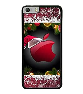 Fuson Premium 2D Back Case Cover Designed apple With pink Background Degined For Micromax Canvas Knight 2 E471