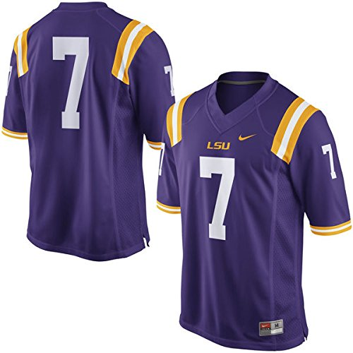 Men's LSU Tigers #7 Nike Football Jersey