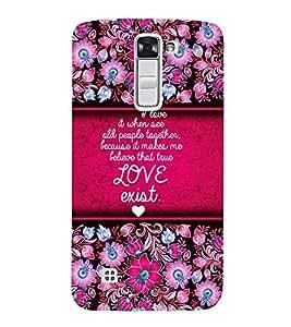 Love Exist Quote 3D Hard Polycarbonate Designer Back Case Cover for LG K10 4G Dual